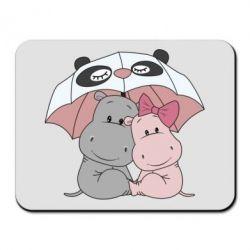 Килимок для миші Hippos