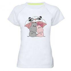 Жіноча спортивна футболка Hippos