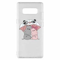 Чохол для Samsung Note 8 Hippos