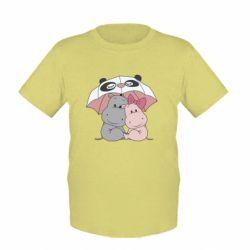Дитяча футболка Hippos
