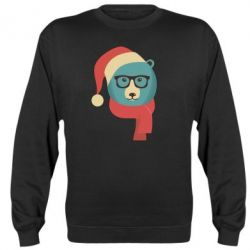 Реглан (свитшот) Hipster Christmas Bear - FatLine