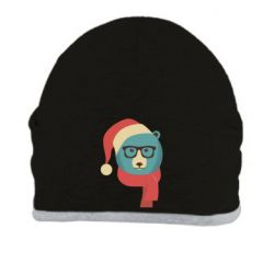 Шапка Hipster Christmas Bear - FatLine