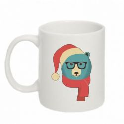Кружка 320ml Hipster Christmas Bear - FatLine