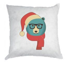 Подушка Hipster Christmas Bear - FatLine