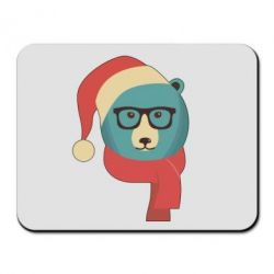 Коврик для мыши Hipster Christmas Bear - FatLine