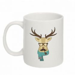 Кружка 320ml Hipster Christmas Deer - FatLine