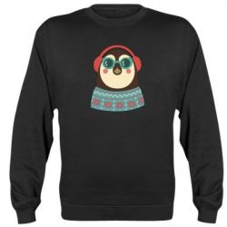 Реглан (свитшот) Hipster Christmas Penguin - FatLine