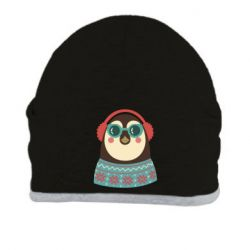 Шапка Hipster Christmas Penguin - FatLine