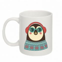 Кружка 320ml Hipster Christmas Penguin - FatLine