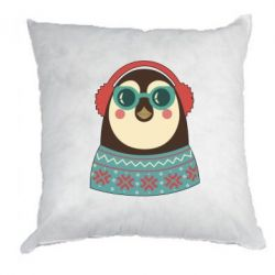 Подушка Hipster Christmas Penguin - FatLine