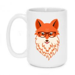 Кружка 420ml Fox with a mole in the form of a heart