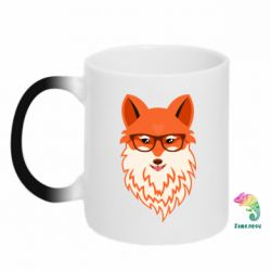 Кружка-хамелеон Fox with a mole in the form of a heart