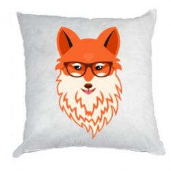 Подушка Fox with a mole in the form of a heart