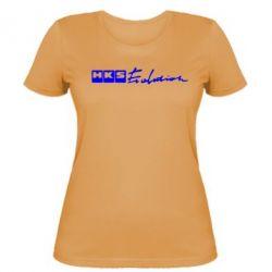 Женская футболка HKS logo - FatLine