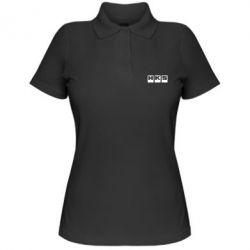 Женская футболка поло HKS - FatLine