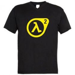 Мужская футболка  с V-образным вырезом HL2 - FatLine