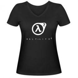Женская футболка с V-образным вырезом HL - FatLine