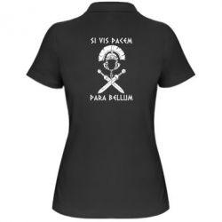 Женская футболка поло Хочешь мира — готовься к войне - FatLine