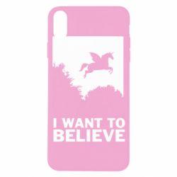 Чохол для iPhone X/Xs Хочу вірити в єдинорогів