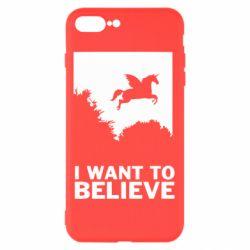 Чохол для iPhone 7 Plus Хочу вірити в єдинорогів