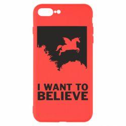 Чохол для iPhone 8 Plus Хочу вірити в єдинорогів