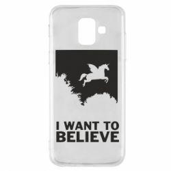 Чохол для Samsung A6 2018 Хочу вірити в єдинорогів