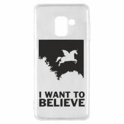 Чохол для Samsung A8 2018 Хочу вірити в єдинорогів
