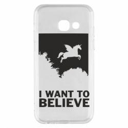 Чохол для Samsung A3 2017 Хочу вірити в єдинорогів