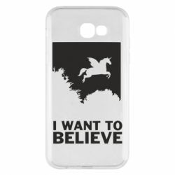 Чохол для Samsung A7 2017 Хочу вірити в єдинорогів