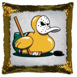 Подушка-хамелеон Hockey duck