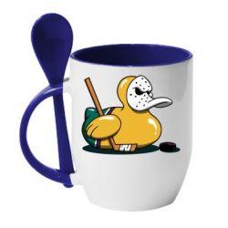 Кружка з керамічною ложкою Hockey duck