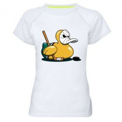 Жіноча спортивна футболка Hockey duck