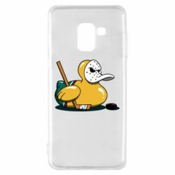 Чохол для Samsung A8 2018 Hockey duck