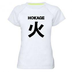 Жіноча спортивна футболка Hokage Naruto