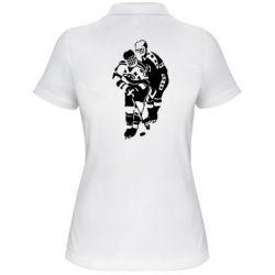 Женская футболка поло Хоккеисты - FatLine
