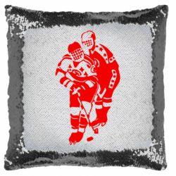 Подушка-хамелеон Хокеїсти