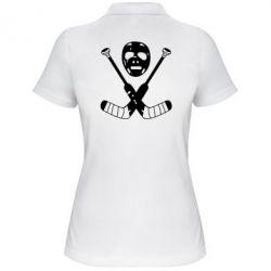 Женская футболка поло Хоккейная маска - FatLine