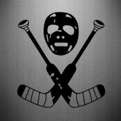 Наклейка Хоккейная маска - FatLine