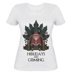 Женская футболка Holidays are coming