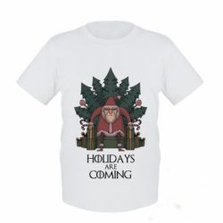 Детская футболка Holidays are coming