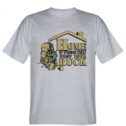 Мужская футболка Home is where you drop your ruck - FatLine
