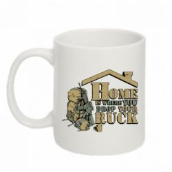 Кружка 320ml Home is where you drop your ruck - FatLine