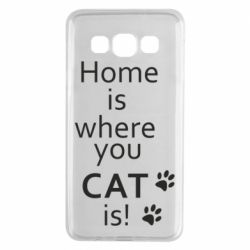 Чехол для Samsung A3 2015 Home is where your Cat is!