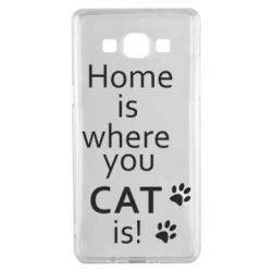 Чехол для Samsung A5 2015 Home is where your Cat is!