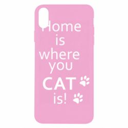Чехол для iPhone Xs Max Home is where your Cat is!