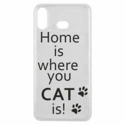Чехол для Samsung A6s Home is where your Cat is!