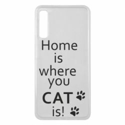 Чехол для Samsung A7 2018 Home is where your Cat is!