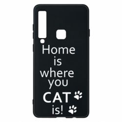 Чехол для Samsung A9 2018 Home is where your Cat is!