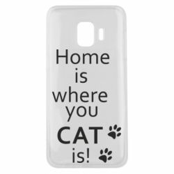 Чехол для Samsung J2 Core Home is where your Cat is!