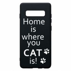 Чехол для Samsung S10+ Home is where your Cat is!